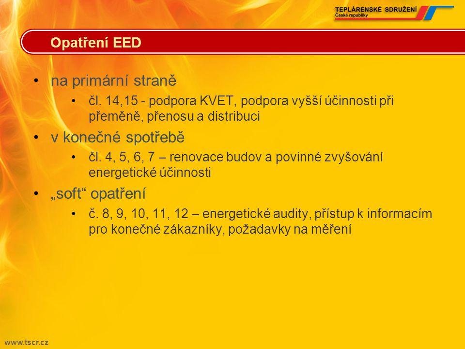 """na primární straně v konečné spotřebě """"soft opatření Opatření EED"""