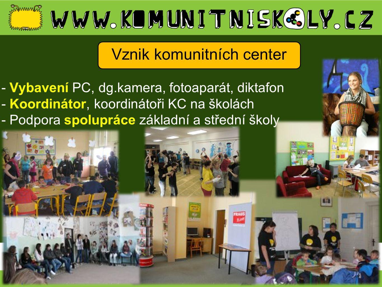 Vznik komunitních center