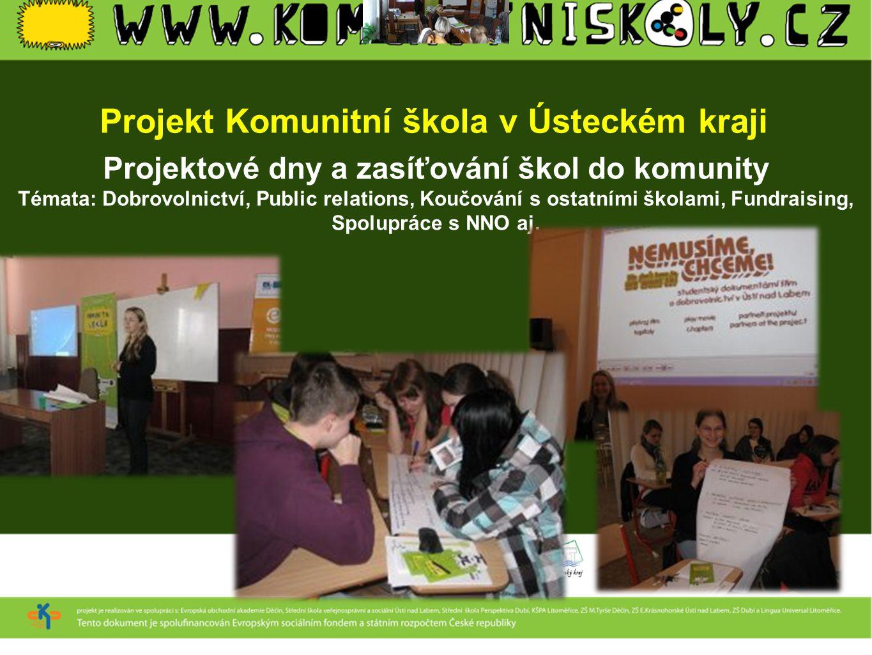 Projekt Komunitní škola v Ústeckém kraji