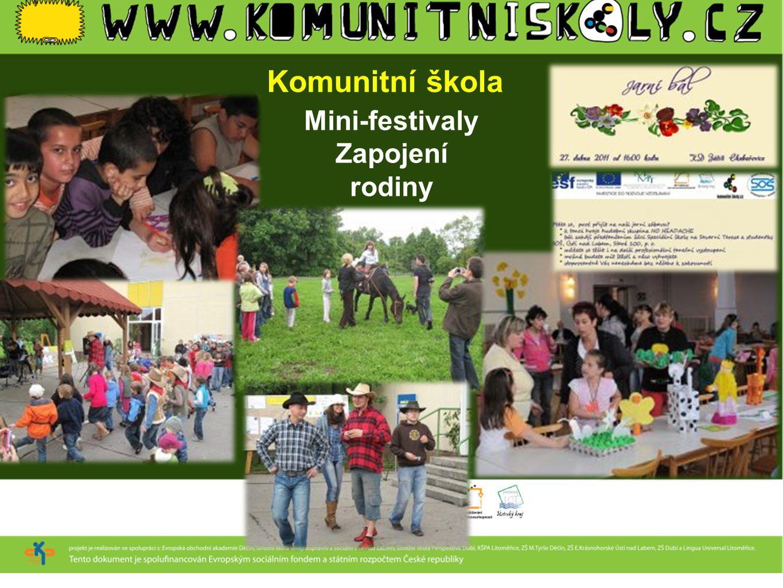 Mini-festivaly Zapojení rodiny