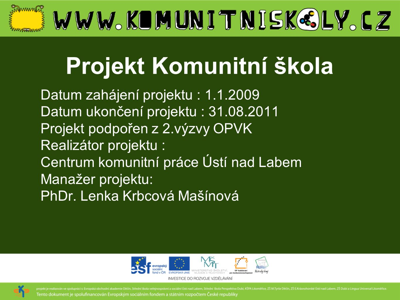 Projekt Komunitní škola