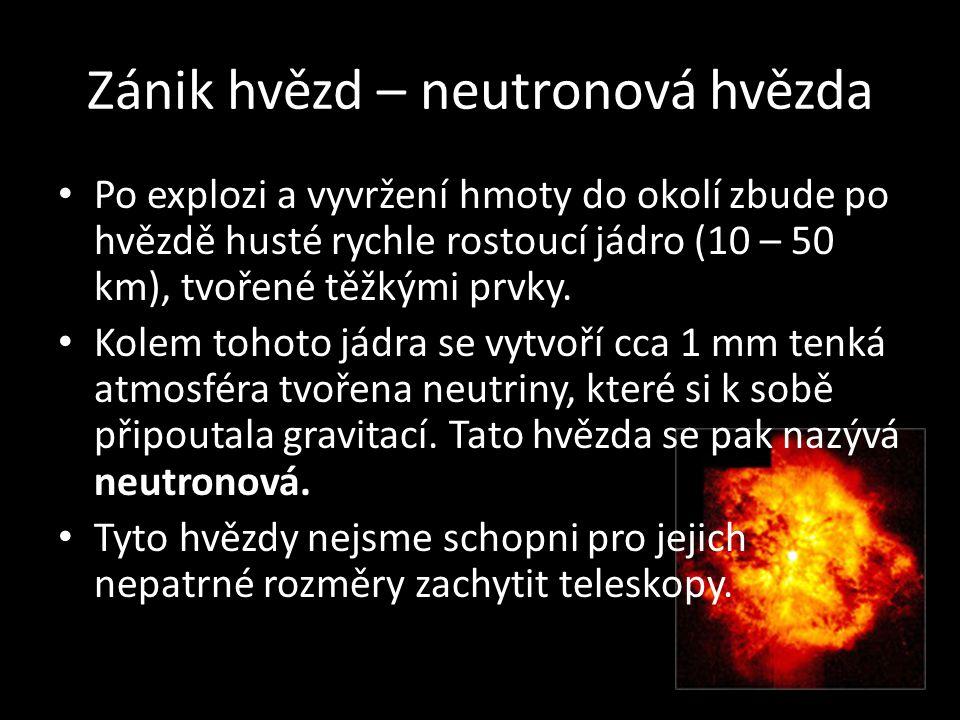 Zánik hvězd – neutronová hvězda