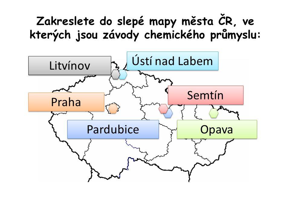 Ústí nad Labem Litvínov Semtín Praha Pardubice Opava