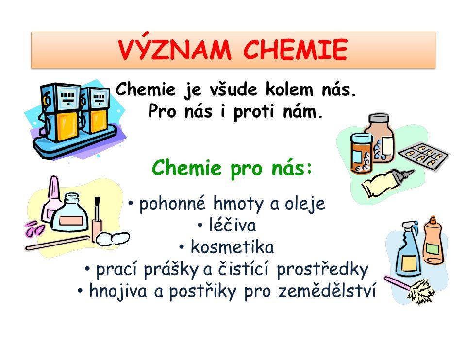 Chemie je všude kolem nás.