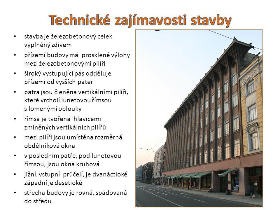 Technické zajímavosti stavby
