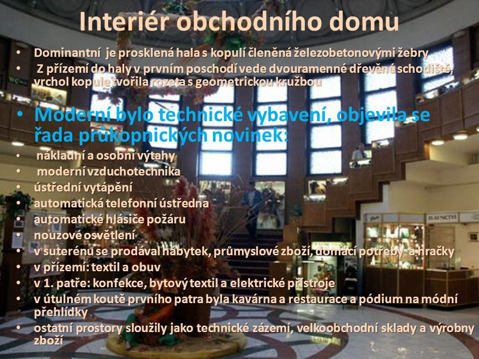 Interiér obchodního domu