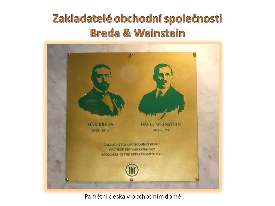 Zakladatelé obchodní společnosti Breda & Weinstein