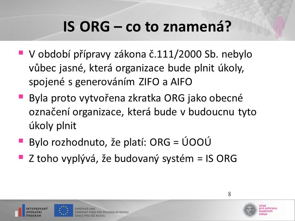 IS ORG – co to znamená