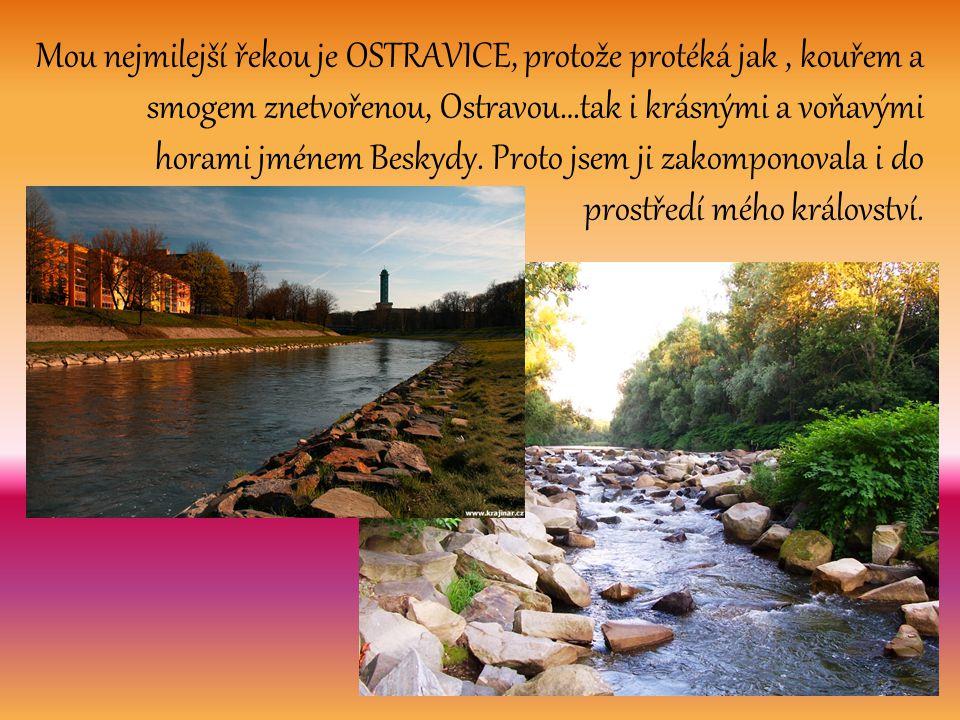 Mou nejmilejší řekou je OSTRAVICE, protože protéká jak , kouřem a smogem znetvořenou, Ostravou…tak i krásnými a voňavými horami jménem Beskydy.