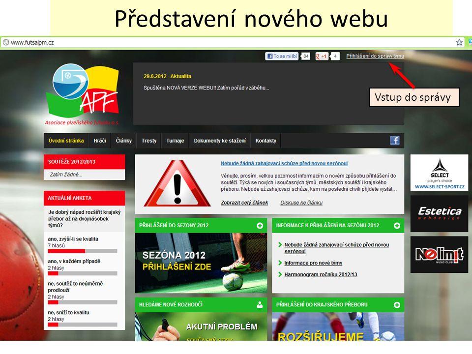 Představení nového webu