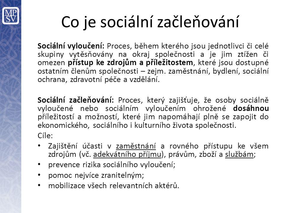 Co je sociální začleňování