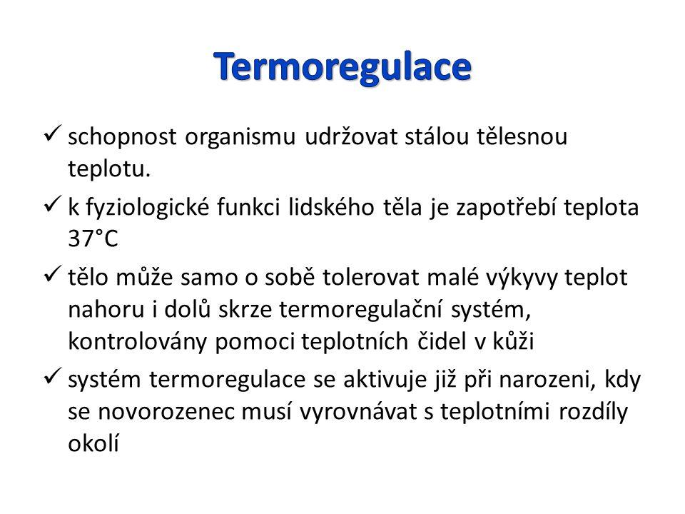 Termoregulace schopnost organismu udržovat stálou tělesnou teplotu.