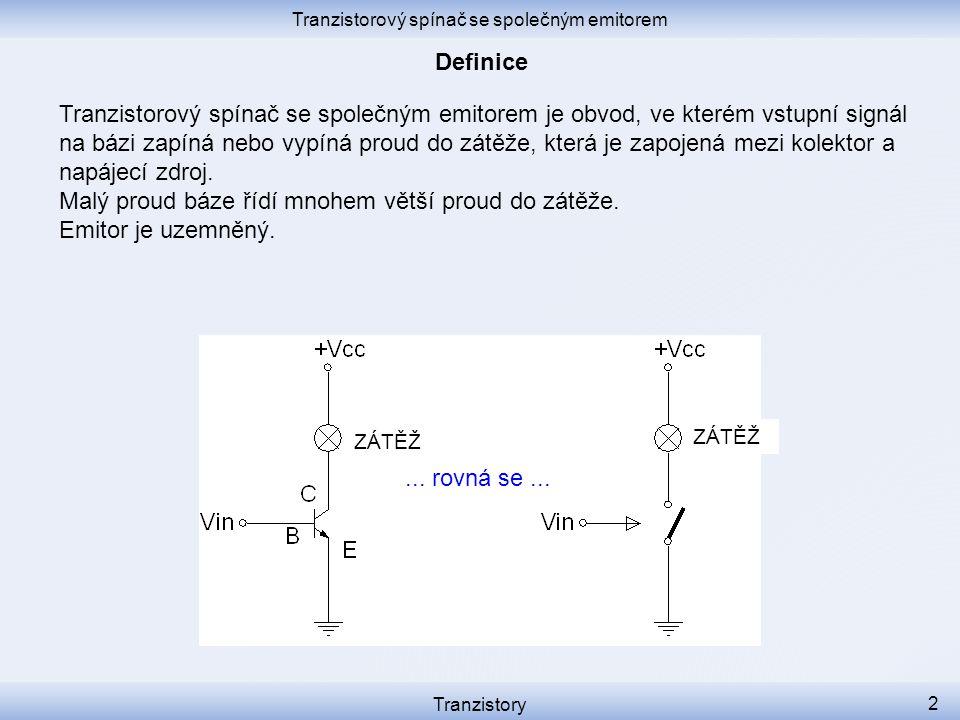 Tranzistorový spínač se společným emitorem