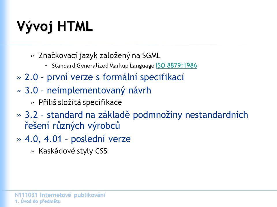 Vývoj HTML 2.0 – první verze s formální specifikací