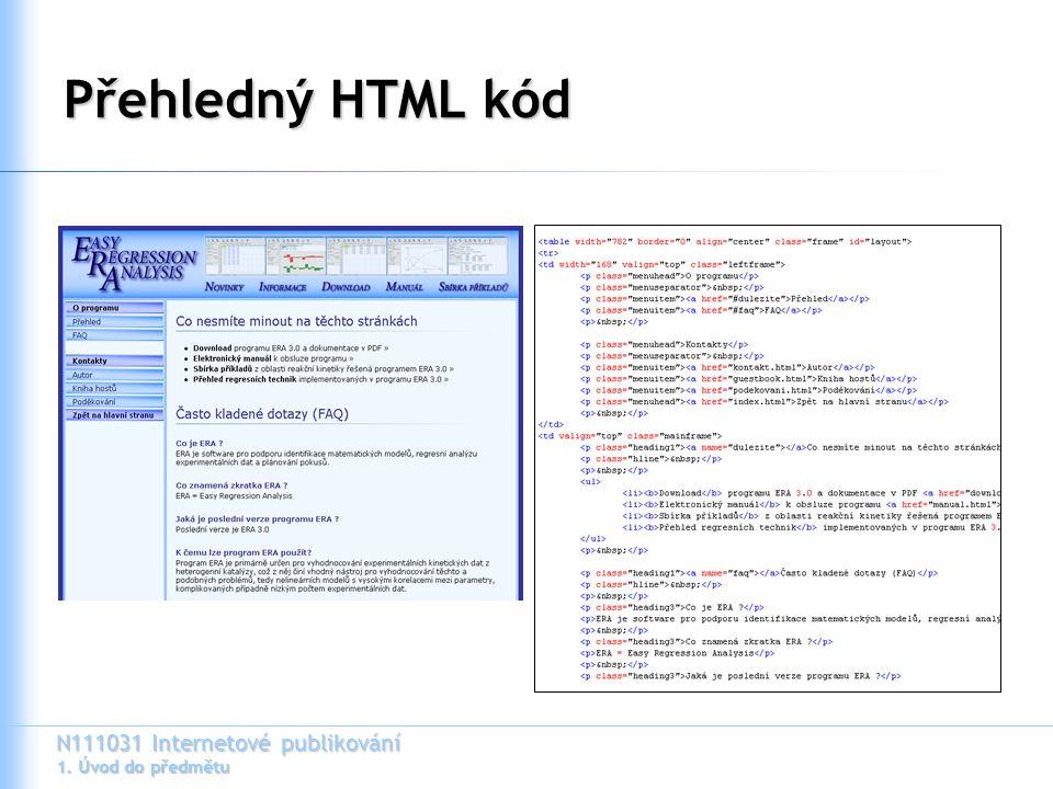 Přehledný HTML kód