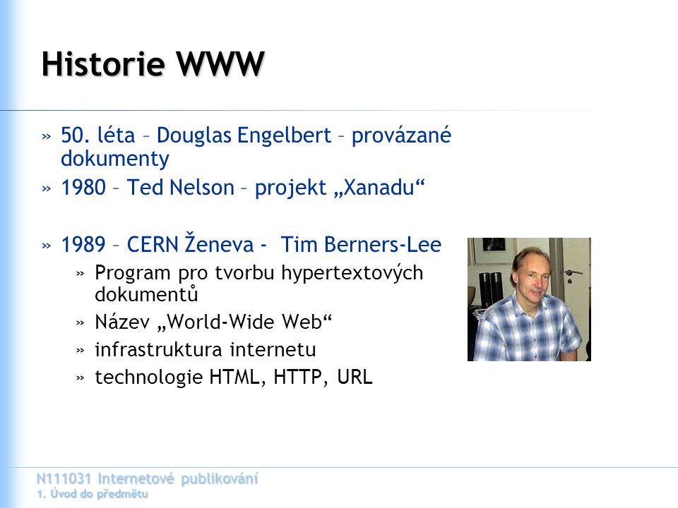 Historie WWW 50. léta – Douglas Engelbert – provázané dokumenty