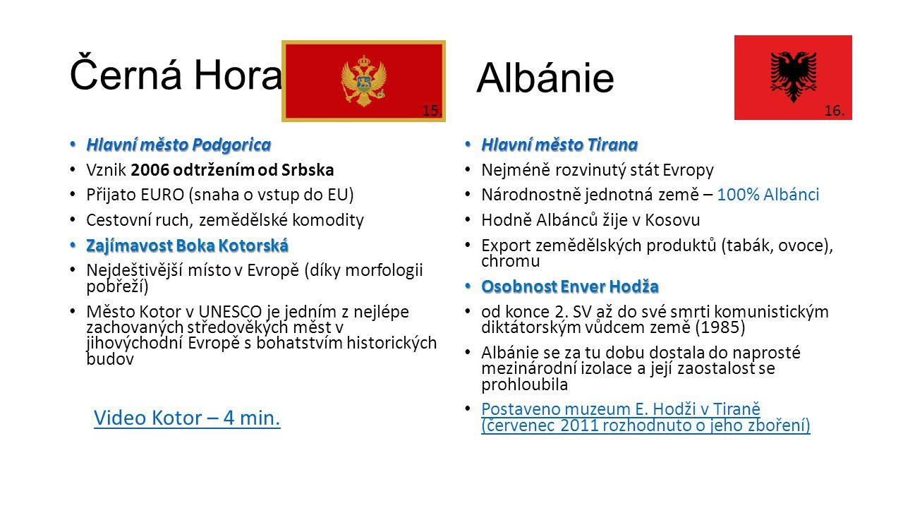 Černá Hora Albánie Video Kotor – 4 min. Hlavní město Podgorica