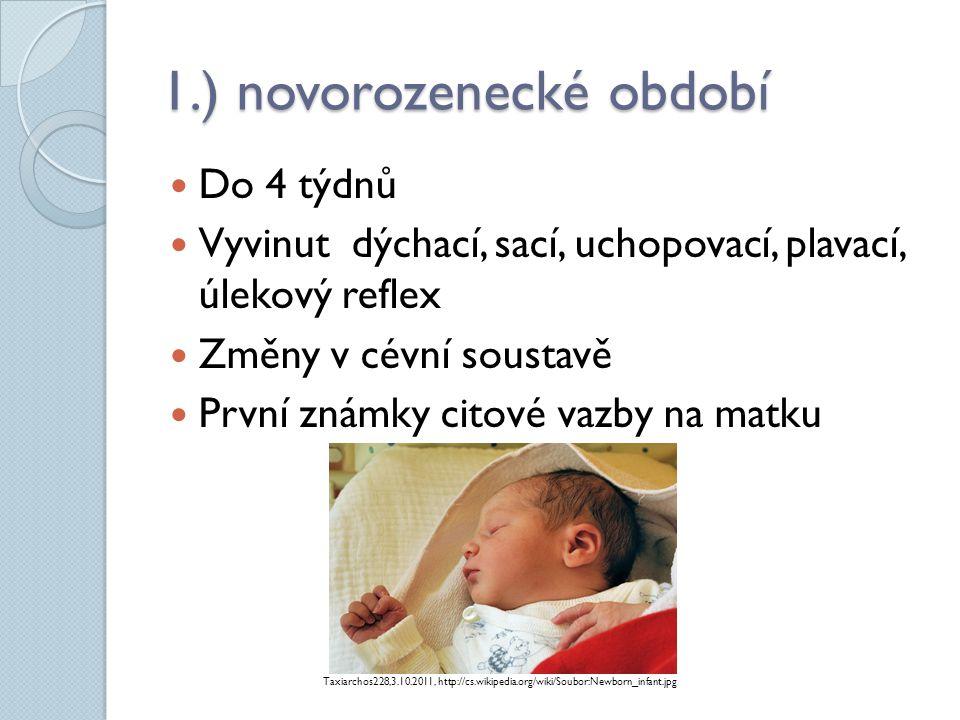 1.) novorozenecké období