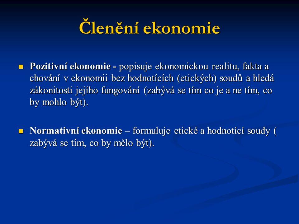 Členění ekonomie