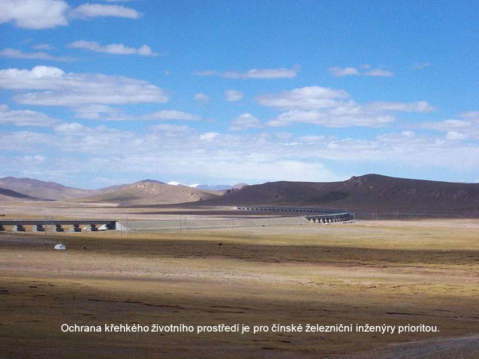 Ochrana křehkého životního prostředí je pro čínské železniční inženýry prioritou.