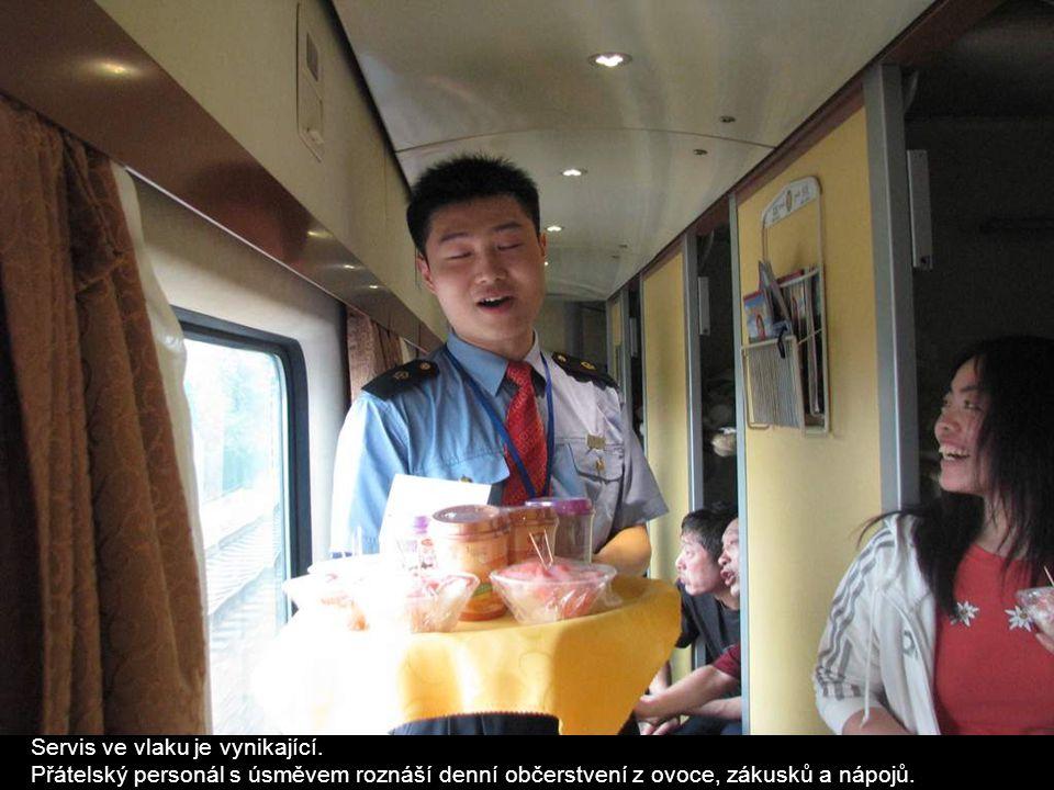 Servis ve vlaku je vynikající.
