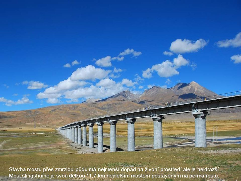 Stavba mostu přes zmrzlou půdu má nejmenší dopad na živoní prostředí ale je nejdražší.