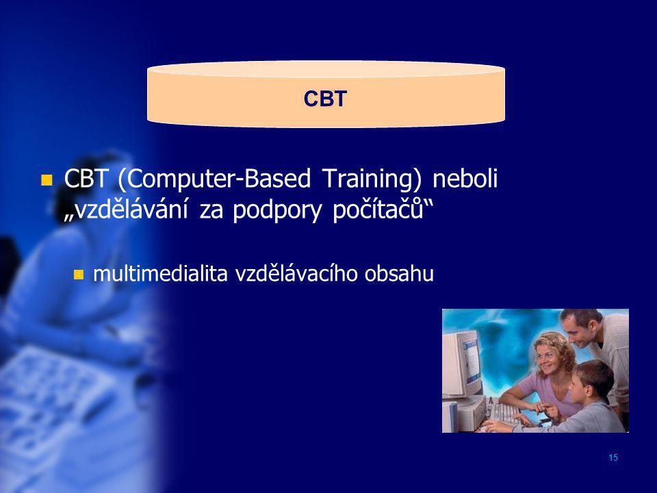 """CBT (Computer-Based Training) neboli """"vzdělávání za podpory počítačů"""