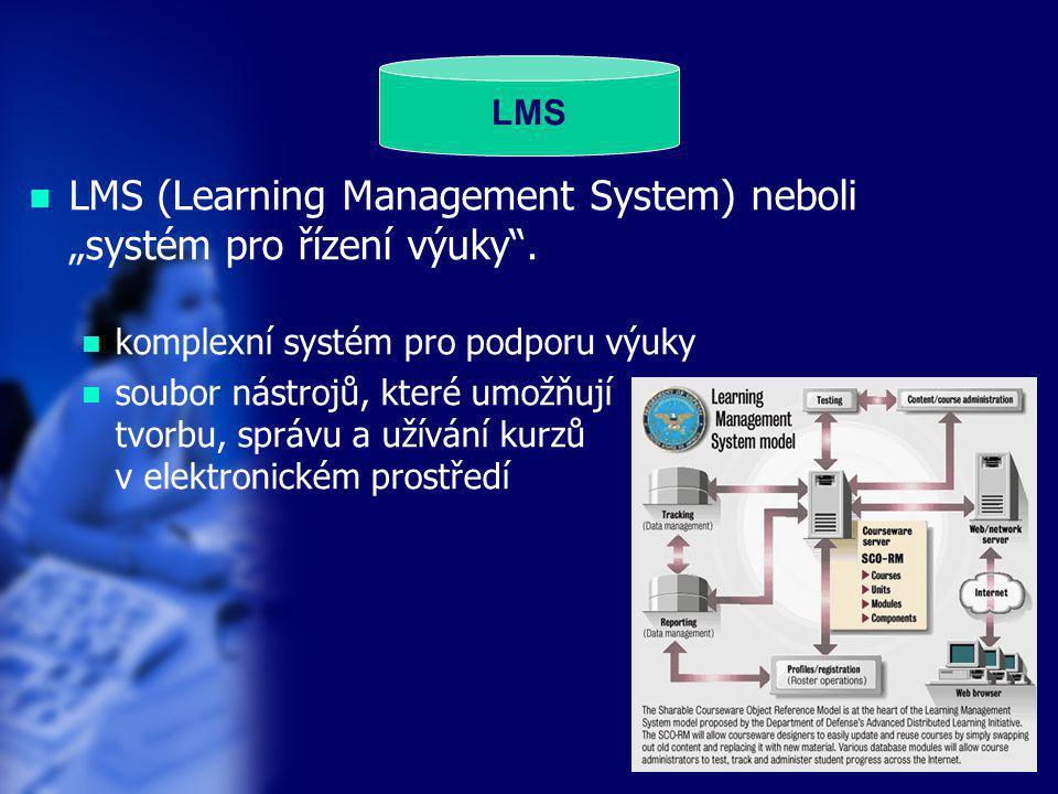 """LMS (Learning Management System) neboli """"systém pro řízení výuky ."""