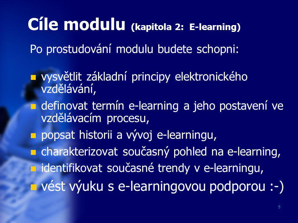 Cíle modulu (kapitola 2: E-learning)
