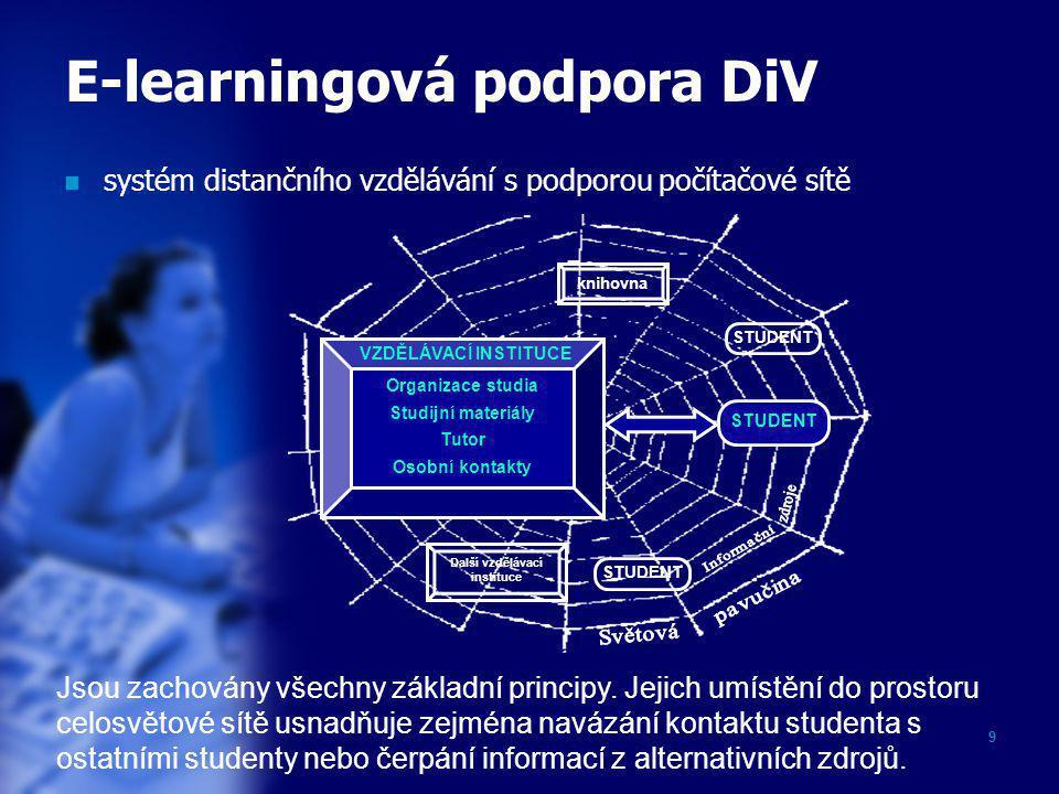 E-learningová podpora DiV