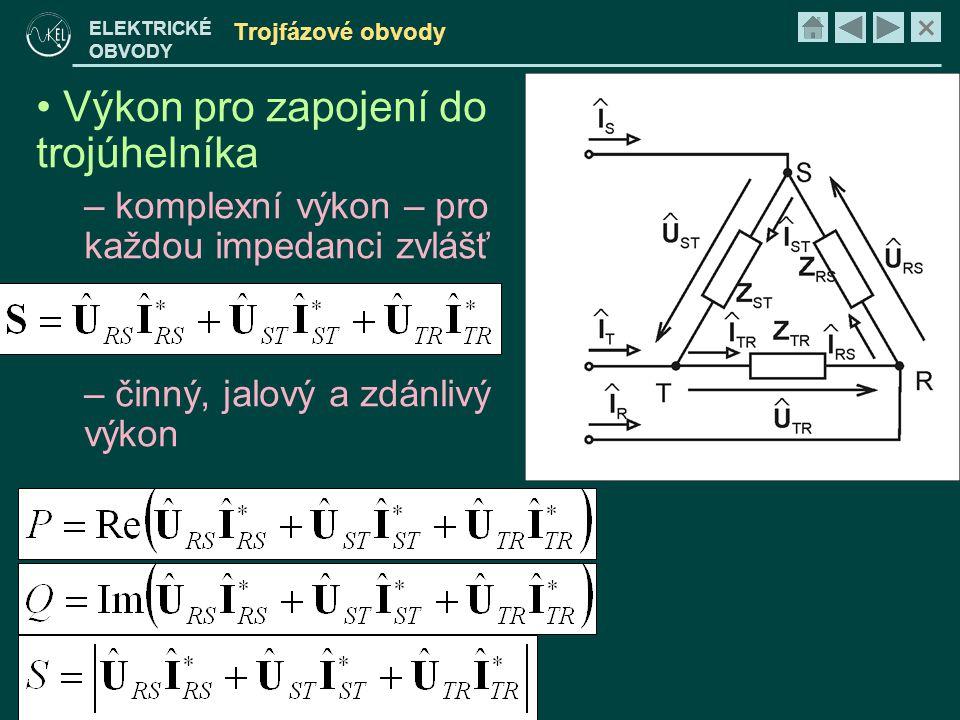 Výkon pro zapojení do trojúhelníka