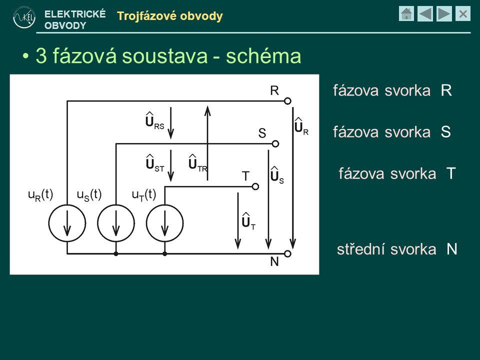 3 fázová soustava - schéma