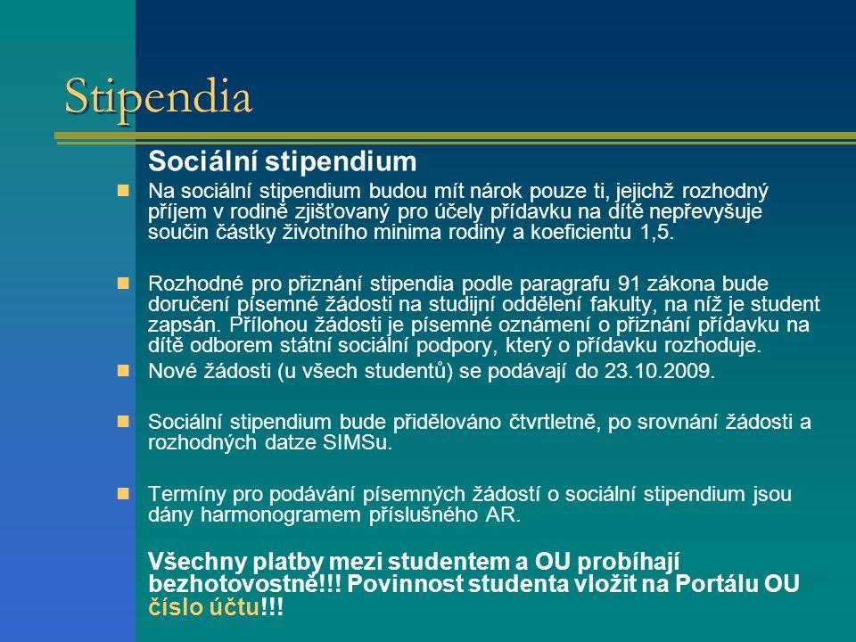 Stipendia Sociální stipendium