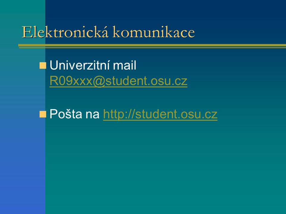 Elektronická komunikace