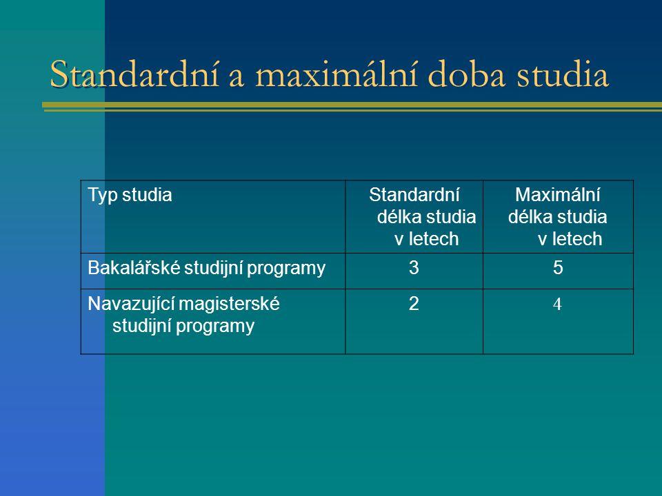Standardní a maximální doba studia