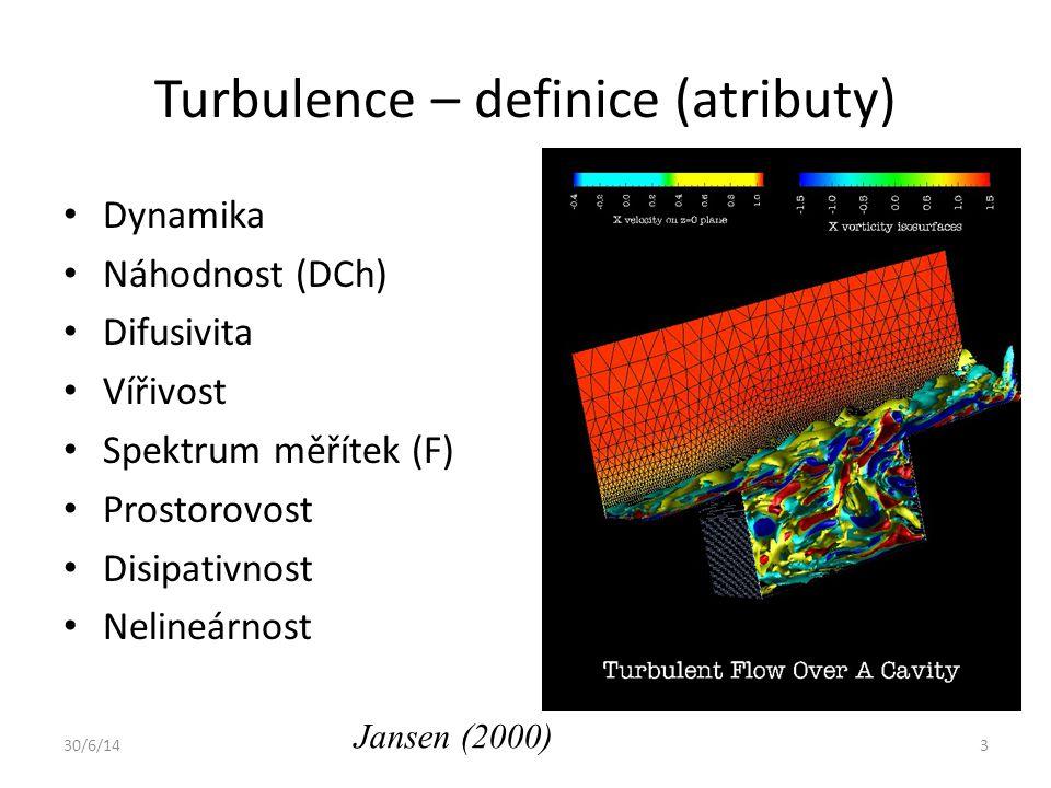 Turbulence – definice (atributy)