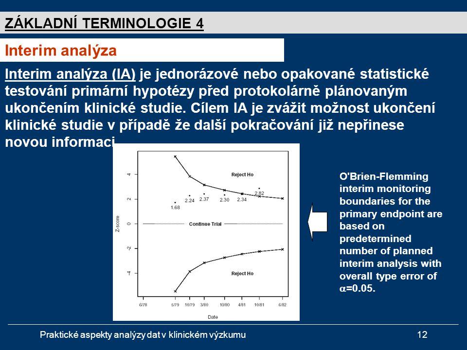 Interim analýza ZÁKLADNÍ TERMINOLOGIE 4