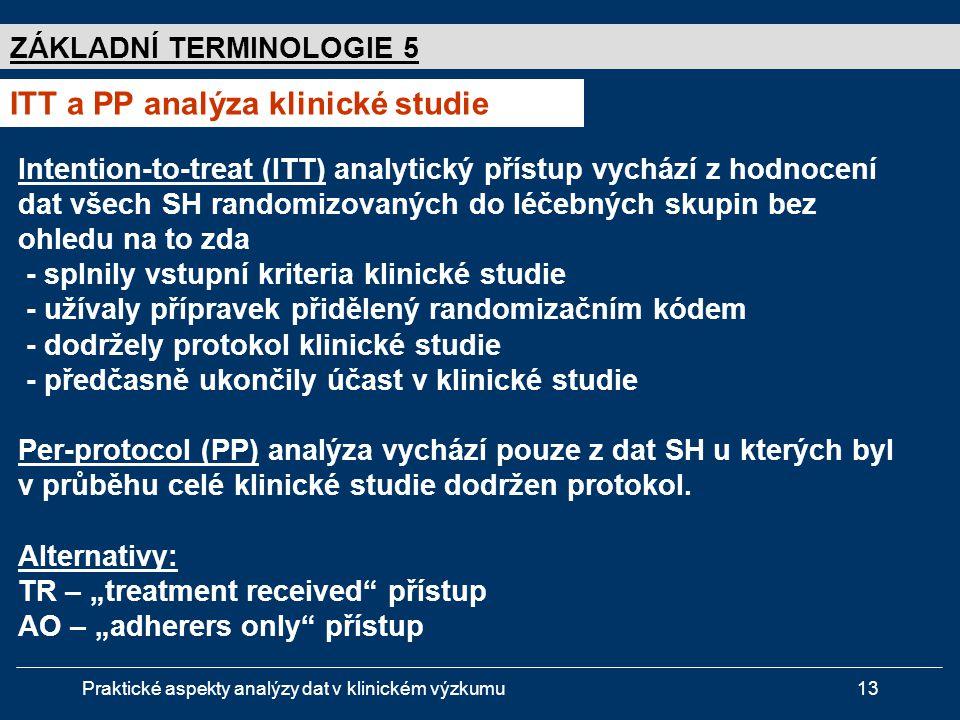 ITT a PP analýza klinické studie