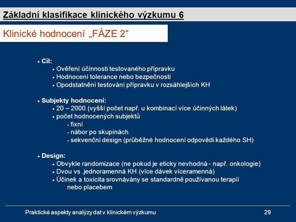 """Klinické hodnocení """"FÁZE 2"""