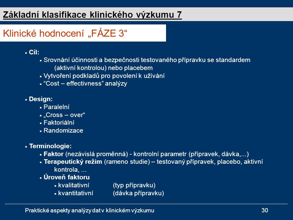"""Klinické hodnocení """"FÁZE 3"""