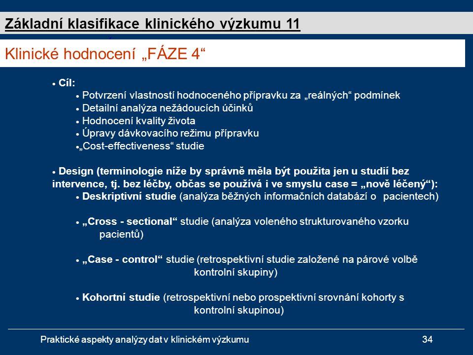"""Klinické hodnocení """"FÁZE 4"""