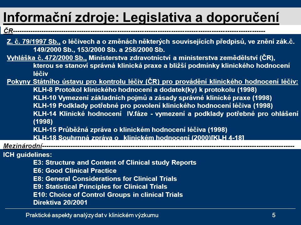 Informační zdroje: Legislativa a doporučení