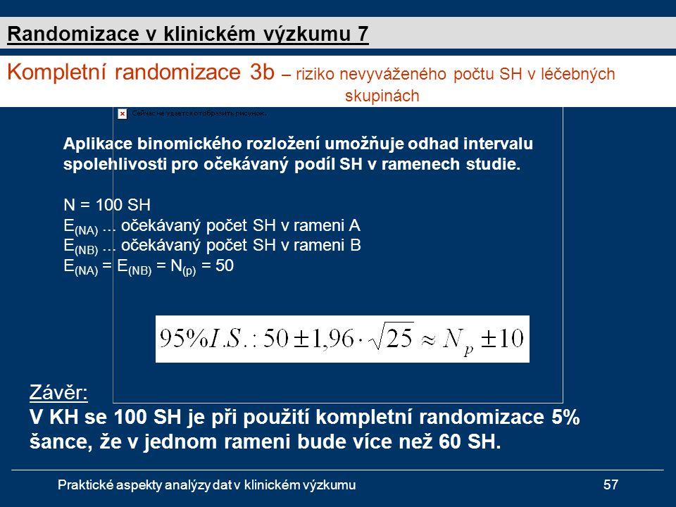 Randomizace v klinickém výzkumu 7