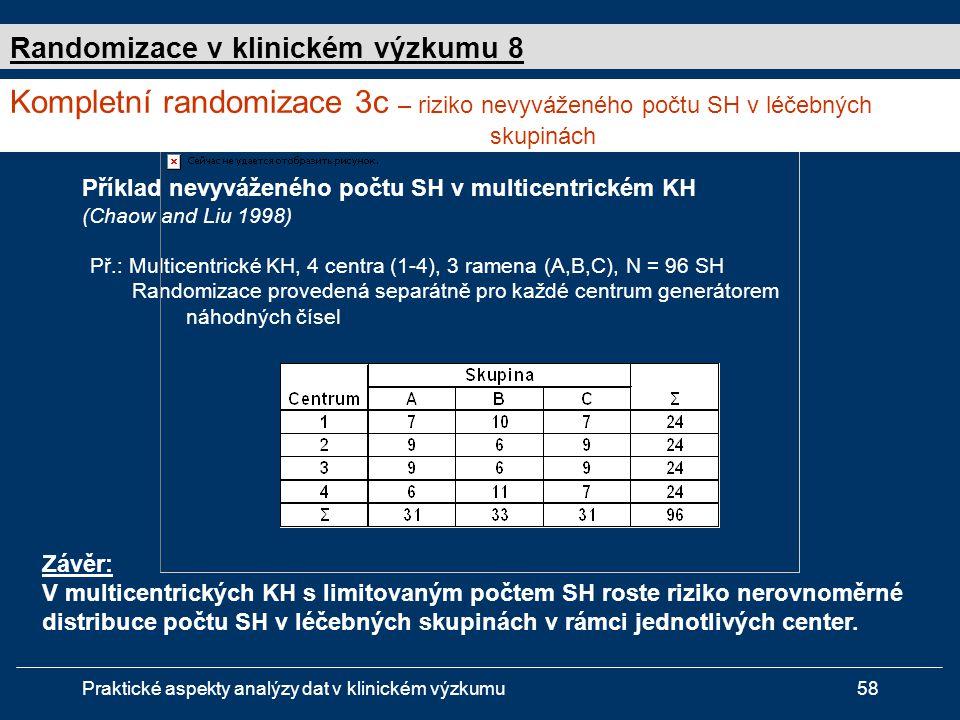 Randomizace v klinickém výzkumu 8