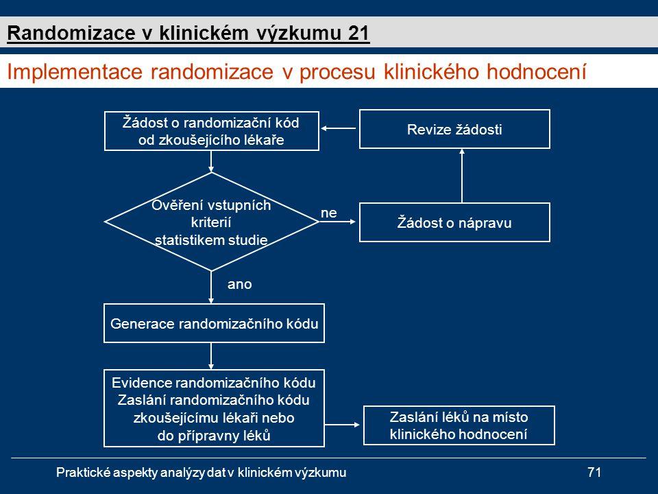 Implementace randomizace v procesu klinického hodnocení