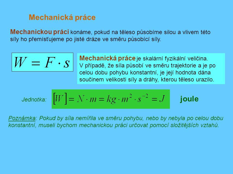 Mechanická práce joule