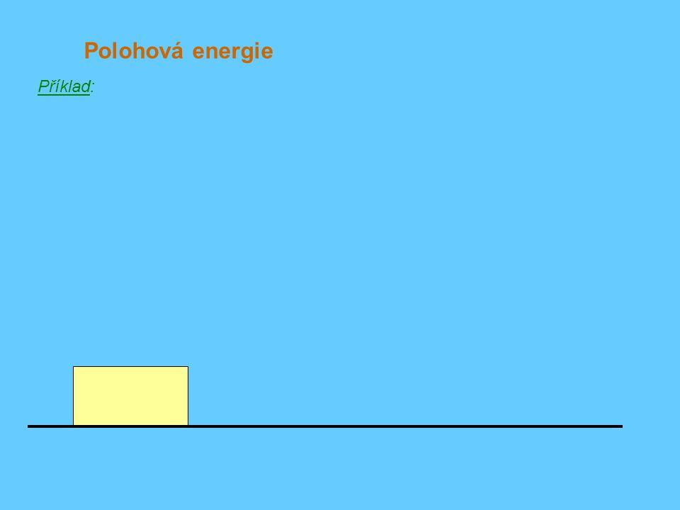 Polohová energie Příklad: