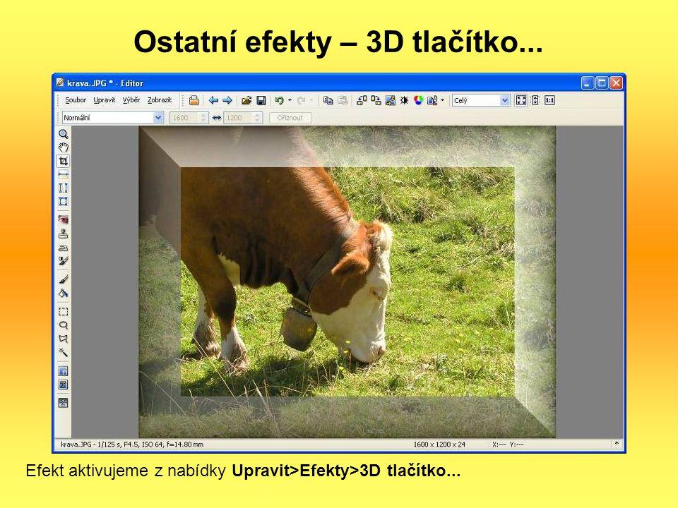 Ostatní efekty – 3D tlačítko...