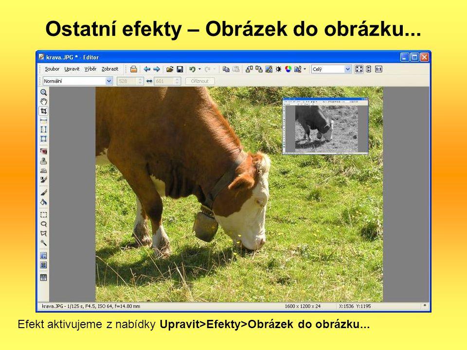 Ostatní efekty – Obrázek do obrázku...