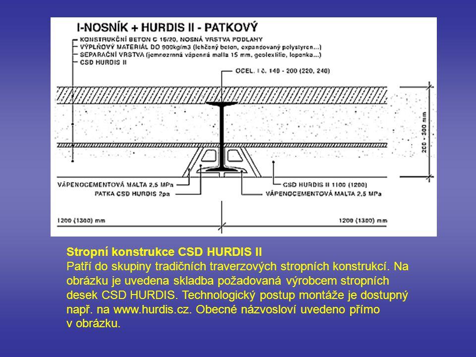 Stropní konstrukce CSD HURDIS II